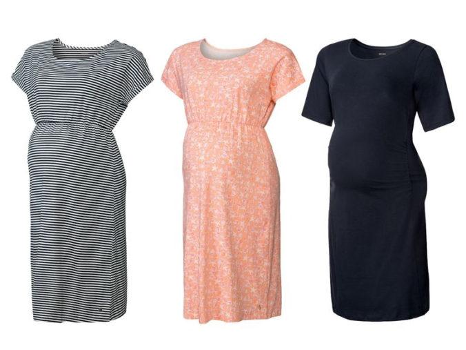 Umstandskleider in verschiedenen Farben