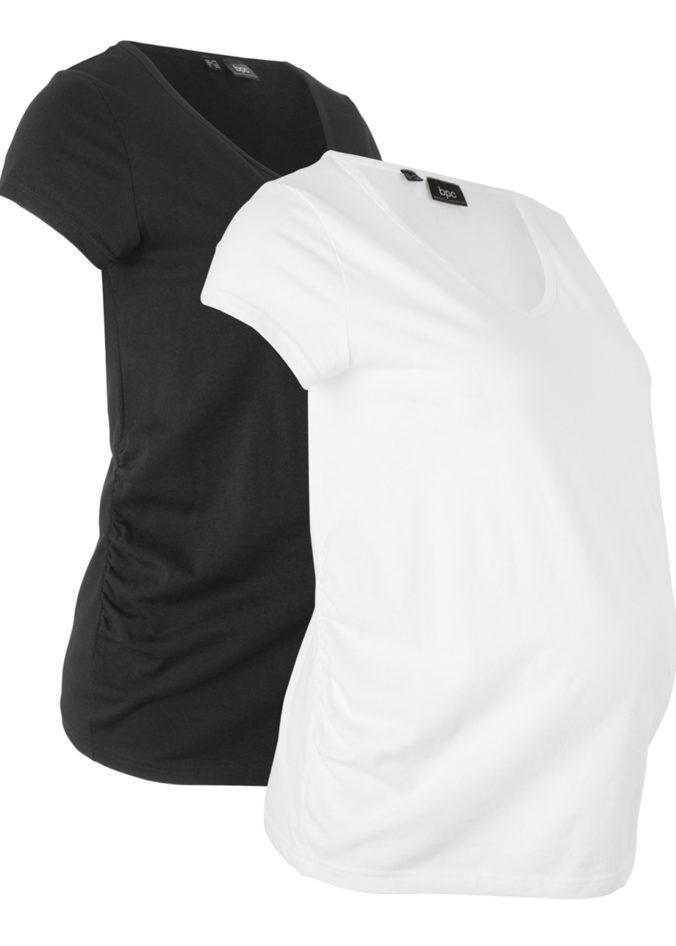 schwarzes und weißes Umstandsshirt
