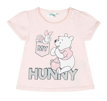 rosa T-Shirt mit Winnie Puuh Print für Mädchen