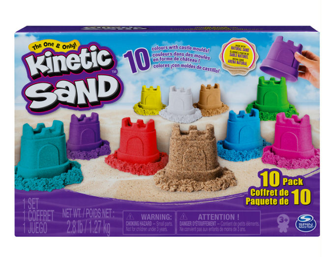 Kinetic Sand Set mit 10 Farben