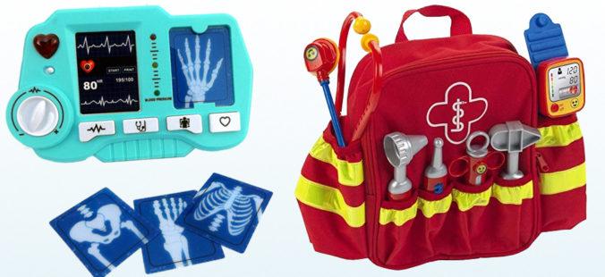 Spielzeug-Röntengerät und Spielzeug-Notfallrucksack