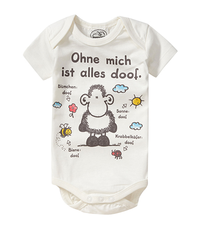 sheepworld Babybody mit Bienenmotiv