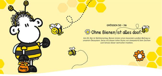 sheepworld Bienenmode zum Weltbienentag
