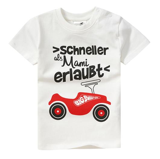 Weißes T-Shirt mit Bobby Car Print für Kinder