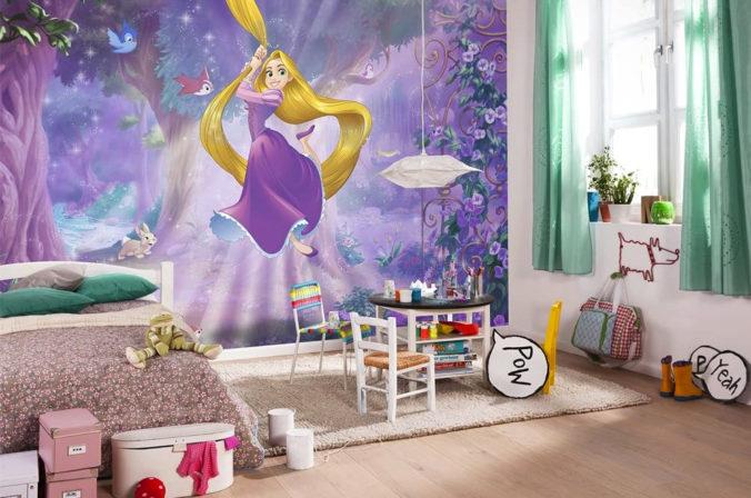 Kinderzimmer mit Rapunzel Tapete