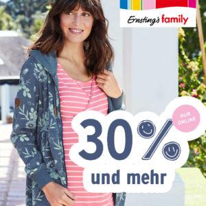 Ernsting's Family: Bis zu 50% Rabatt auf ausgewählte Umstandsmode