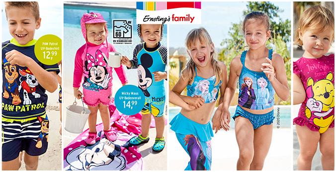 Ernsting's Bademode mit Disneymotiven