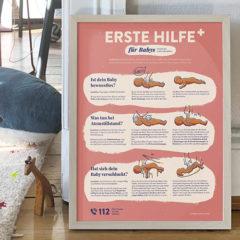 Erste Hilfe Poster für Babys