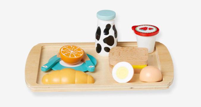 Spielzeug-Frühstück-Set aus Holz für Kinder