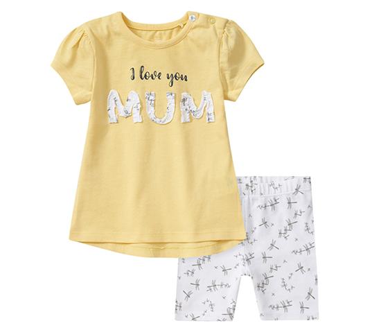 Leggings und T-Shirt mit Aufschrift