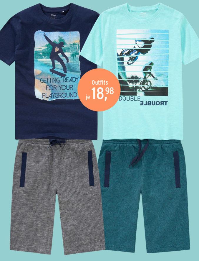 T-Shirts und Shorts für Jungen