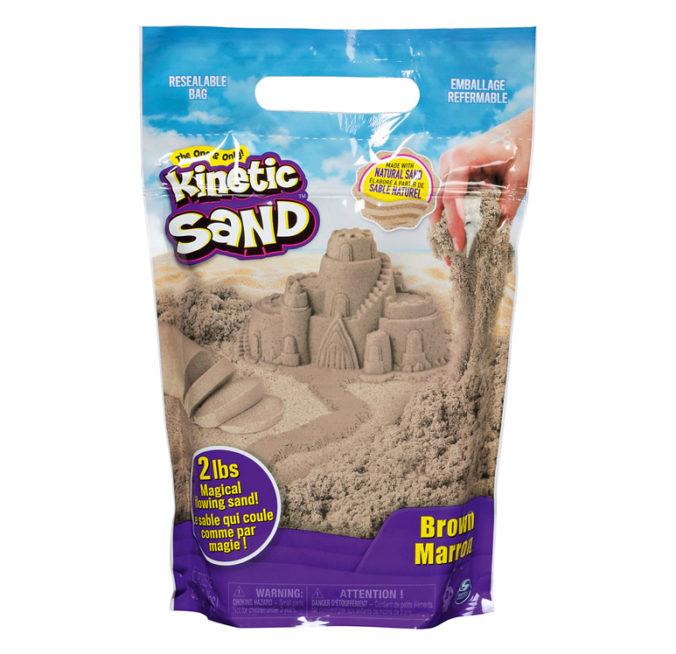 brauner kinetischer Sand