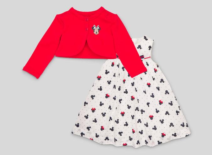 Kleid und Bolerojacke mit Minnie Mouse Motiv für Kinder