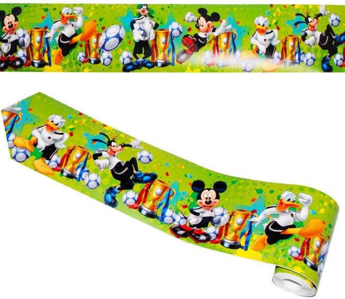 Mickey Mouse Bordüre mit Fußballmotiv