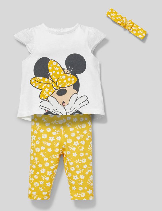 3-teiliges Modeset mit Minnue Mouse Motiv für Mädchen