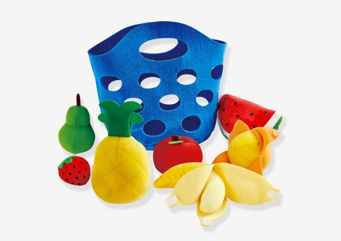 Obstkörbchen aus Stoff für Kinder