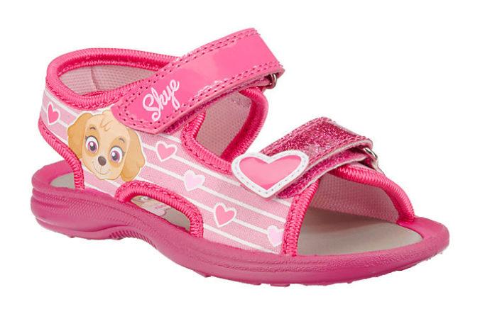 Pinke Paw Patrol Sandalen mit Skye Motiv für Mädchen