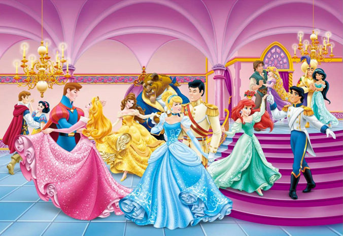 Disney Prinzessinnen Ball Tapete