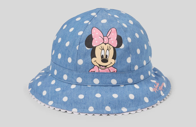Sonnenhut mit Minnie Mouse Motiv für Mädchen