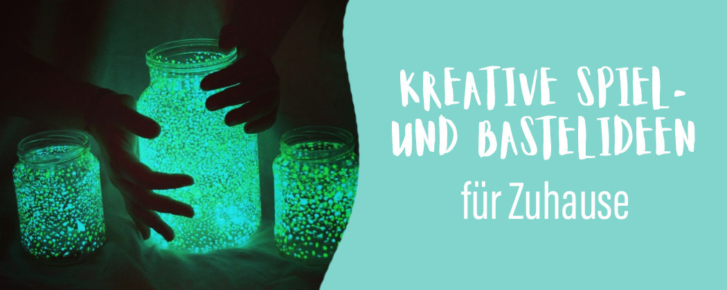 Banner: Kreative Ideen für Kinder – Zuhause Achterbahn fahren, Treppenrutschen, Kissenburgen bauen uvm.