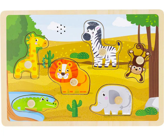 Holz-Steckpuzzle für Kinder
