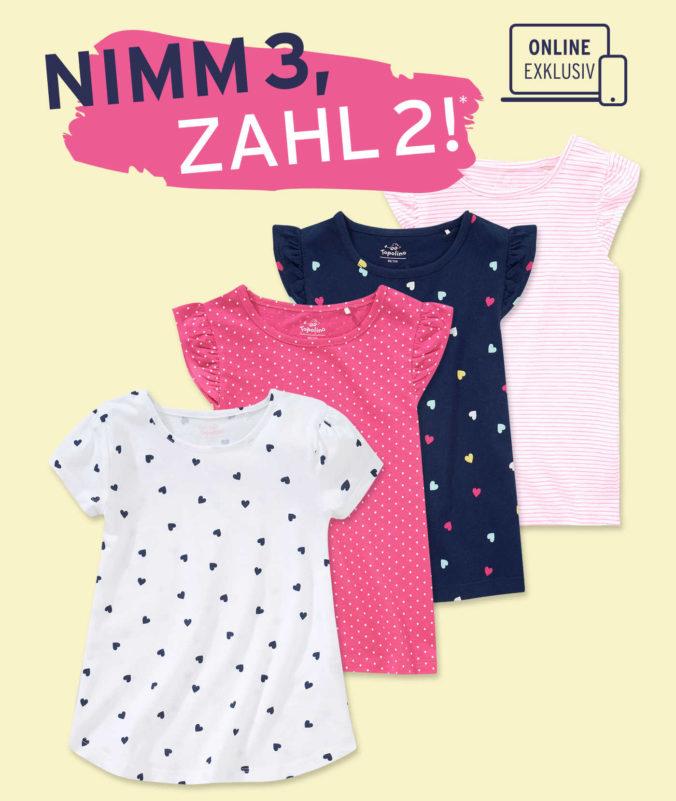 Verschiedene T-Shirts für Mädchen