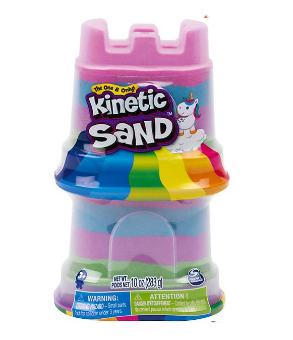 Rainbow Unicorn Castle mit kinetischem Sand für Kinder