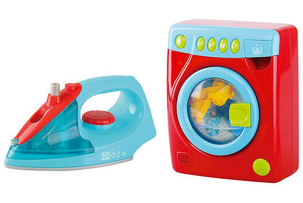Spielzeug-Waschmaschine und Bügeleisen für Kinder