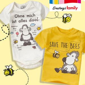 Ernsting's Family: Süße Bienenmode von sheepworld ab 3,99€