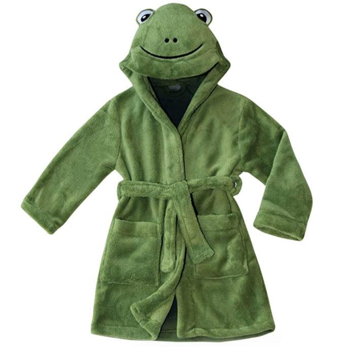 Frosch-Bademantel für Kinder
