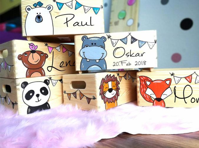 Personalisierte Erinnerungsboxen für Kinder