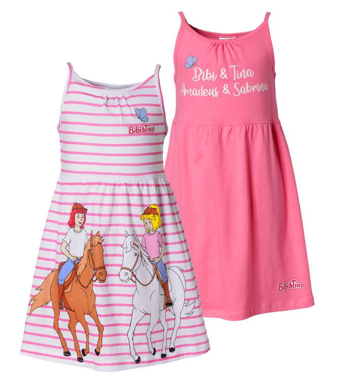Zwei rosa Bibi & Tina Kleider für Mädchen