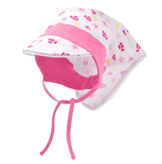 Rosa/weißes Kopftuch für Babys