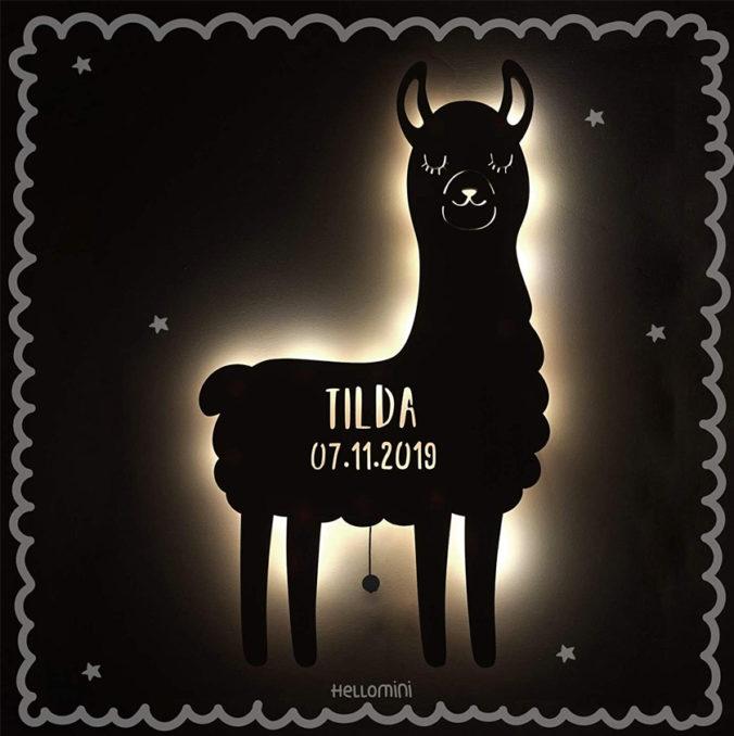Lama Nachtlicht für Kinder