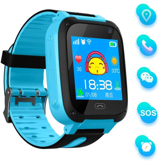 blaue Smartwatch für Kinder