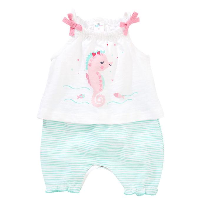 Strampler mit Seepferd-Motiv für Babys