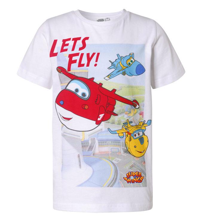 weißes Super Wings T-Shirt für Jungen