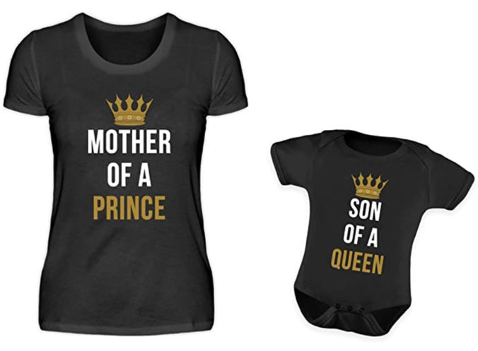 T-Shirts für Mama und Sohn