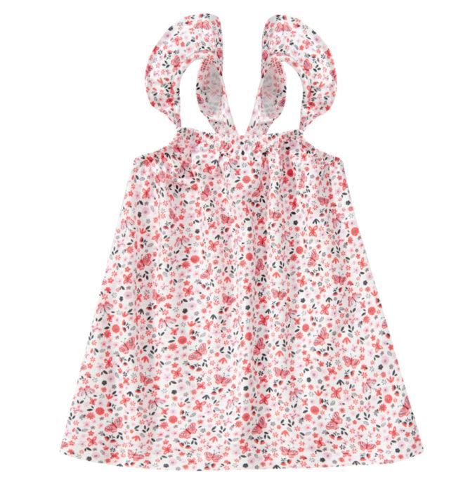Top mit Schmetterlings- und Blumen-Print für Mädchen
