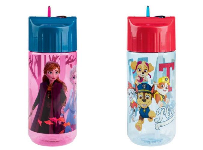 Trinkflaschen mit Paw Patrol und Frozen Motiv