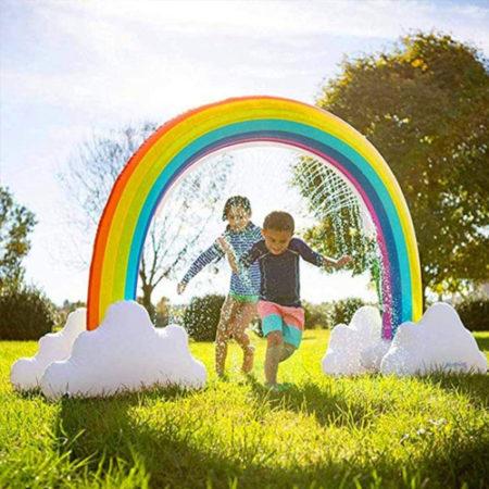 Wassersprinkler Regenbogen Beitragsbild