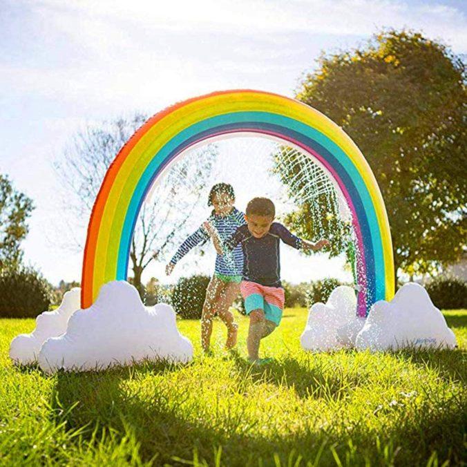 Regenbogen Wassersprinkler