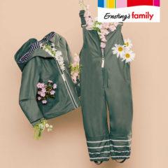Grüne Regenkleidung für Kinder