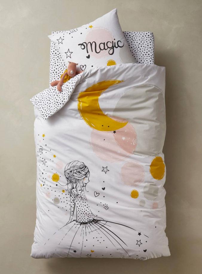 Bettwäsche-Set. mit Prinzessinen-Motiv für Kinder