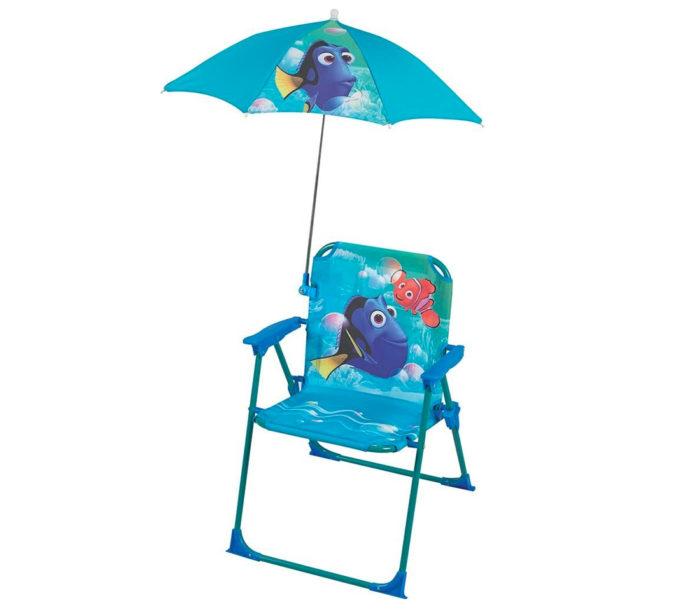 Findet Nemo Campingstuhl mit Sonnenschirm für Kinder