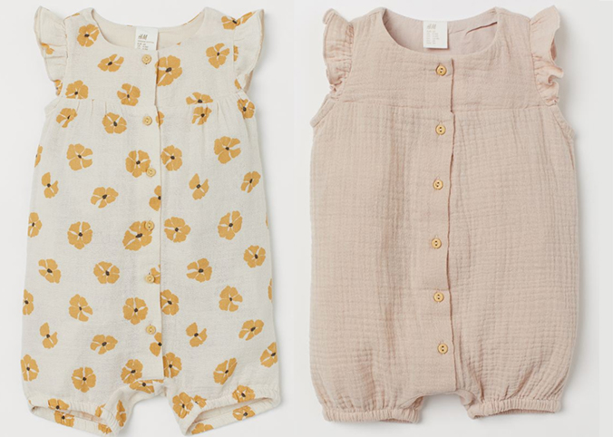 Baumwollstrampler für Mädchen