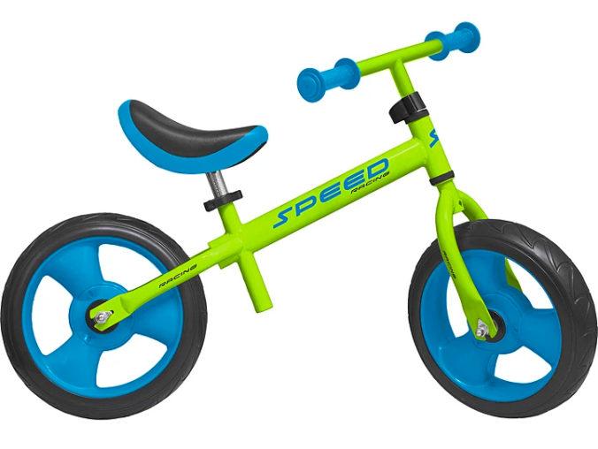 blau-grünes Laufrad für Kinder