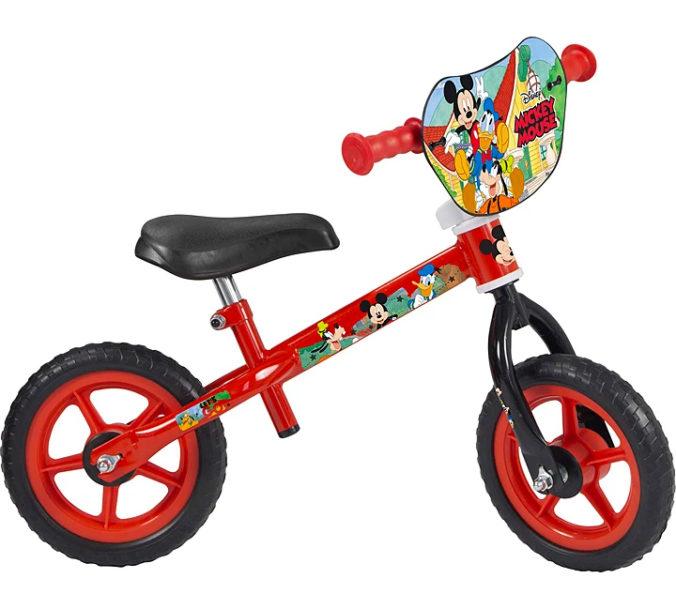 Rotes Mickey Mouse Laufrad für Kinder