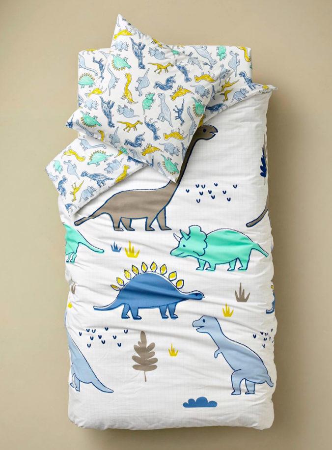 Bettwäsche mit Dino-Motiv für Kinder