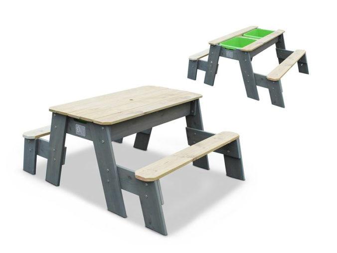 Sitzbank und Matschtisch für Kinder